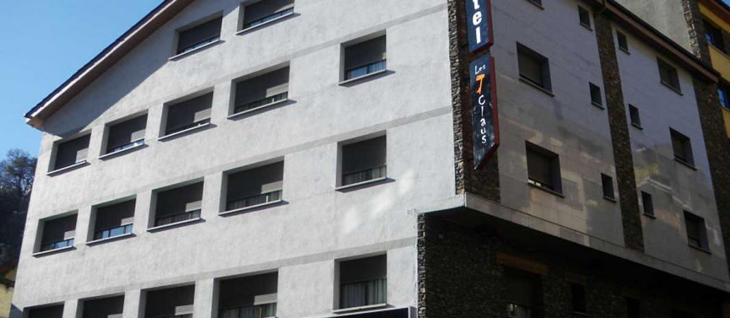 Façade extérieure bâtiment Hotel Les 7 Claus Andorre
